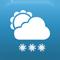 Bewolkt met sneeuwbuien